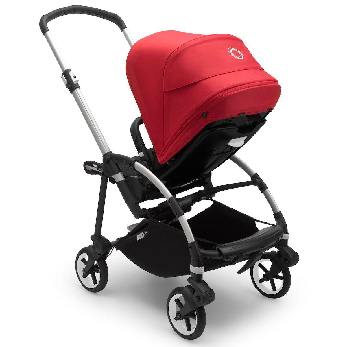 Bugaboo BEE6 carrito completo aluminio-negro-rojo