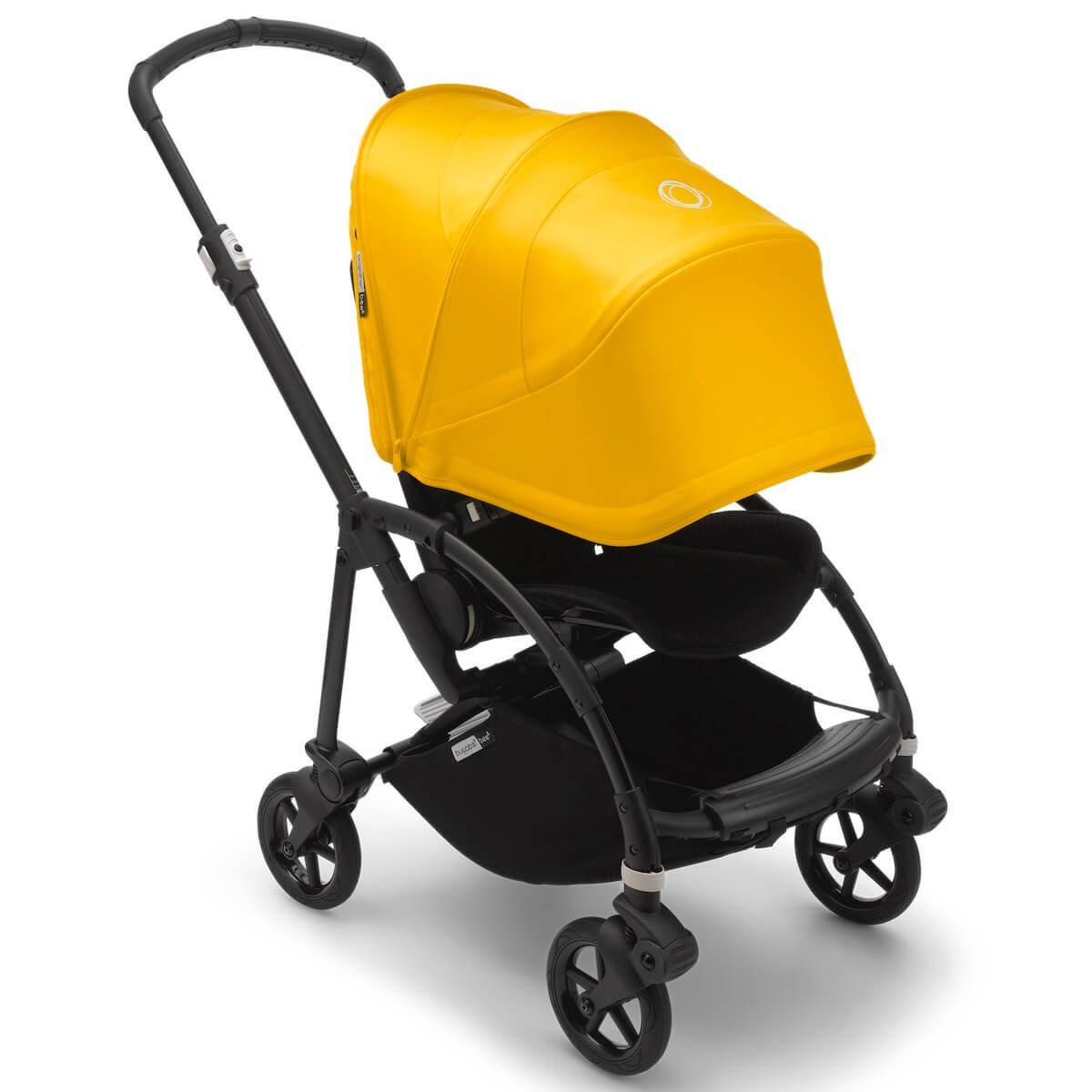 Bugaboo BEE6 carrito completo negro-negro-amarillo limón