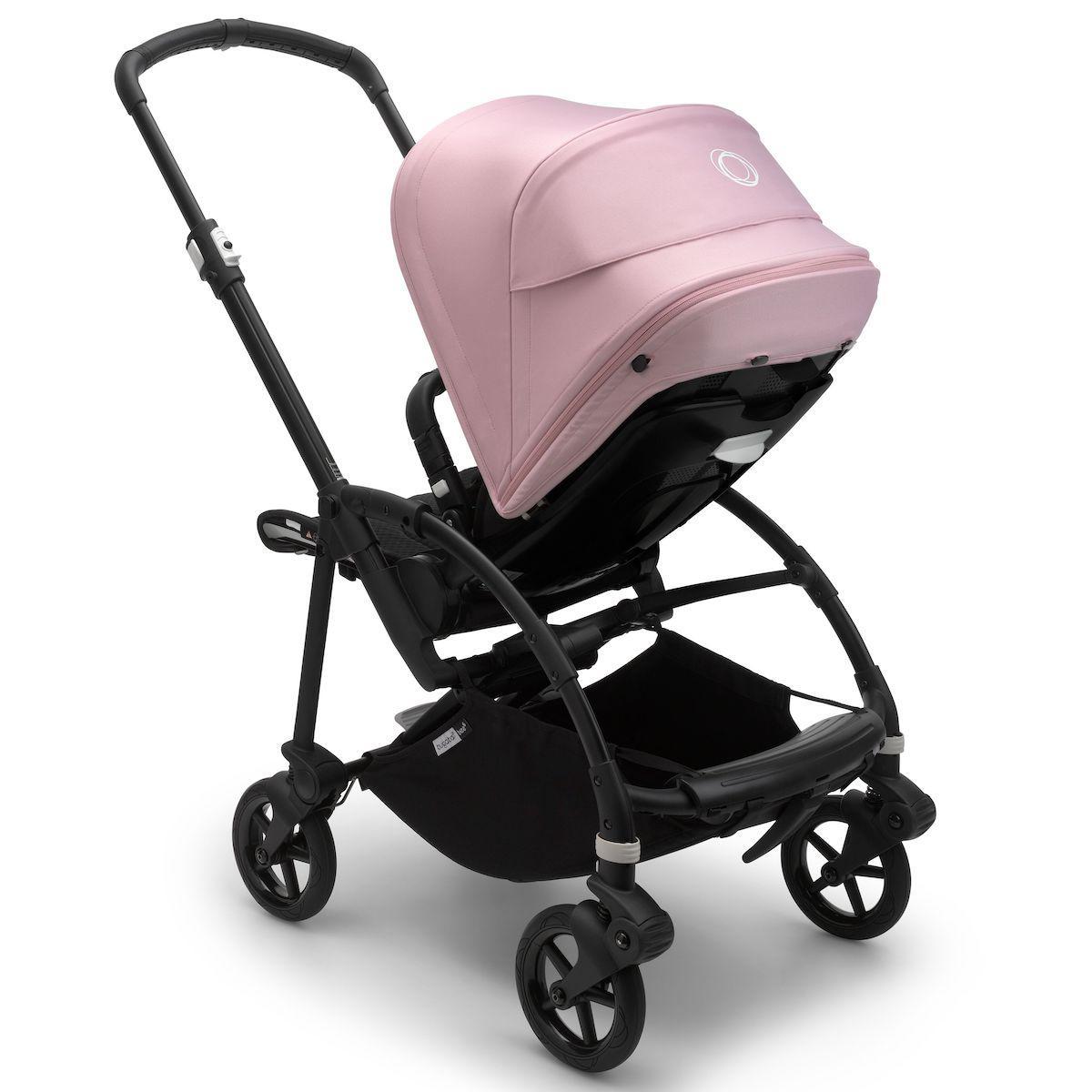 Bugaboo BEE6 carrito completo negro-negro-rosa pastel