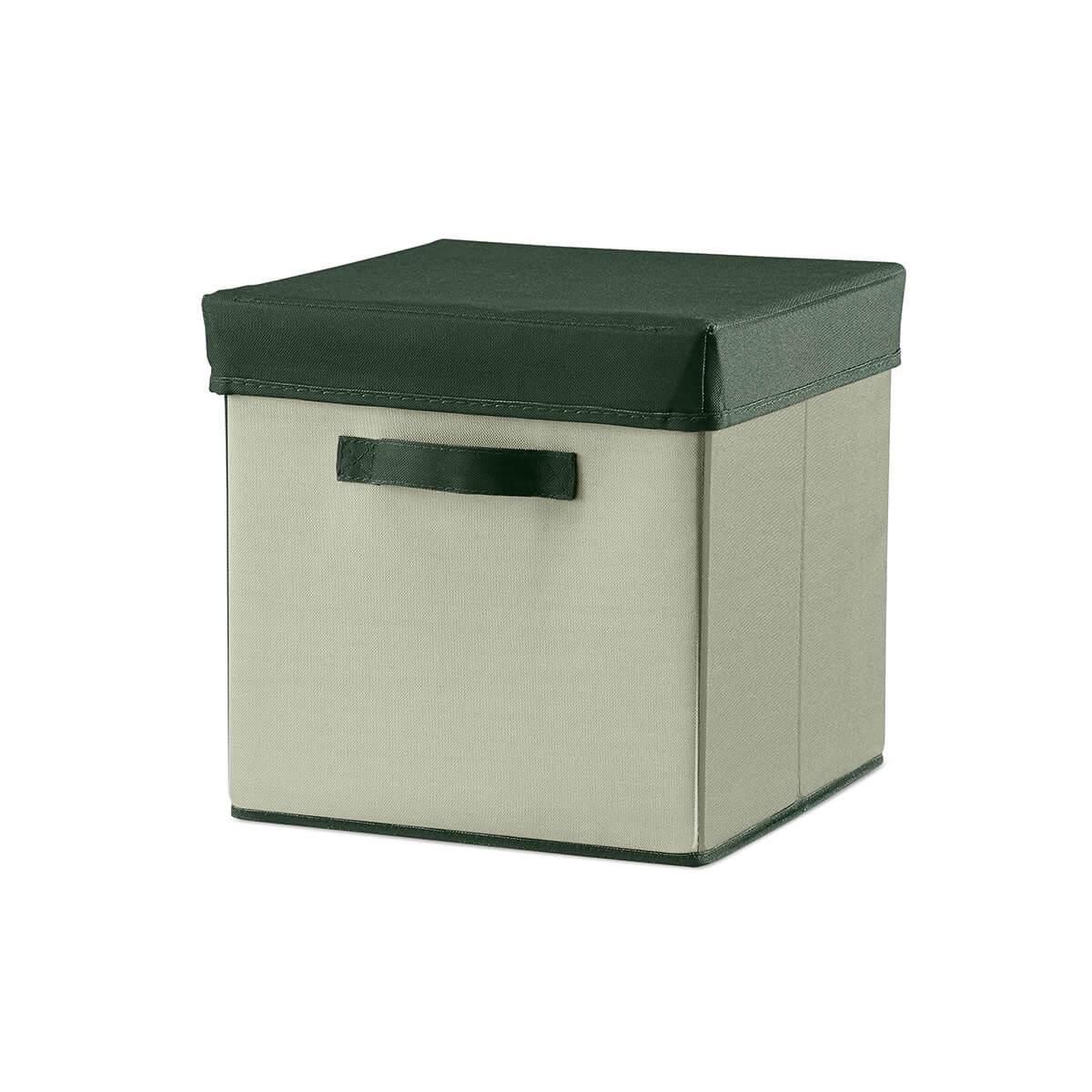 Caja plegable 30x30cm ROOM COLLECTION Flexa light-dark dusty green