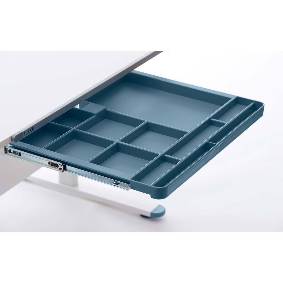Cajón almacenamiento escritorio STUDY EVO Flexa azul