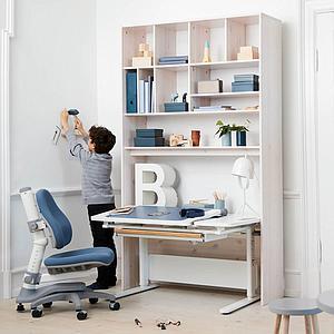 Cajón almacenamiento escritorio STUDY MOBY Flexa blanco-natural