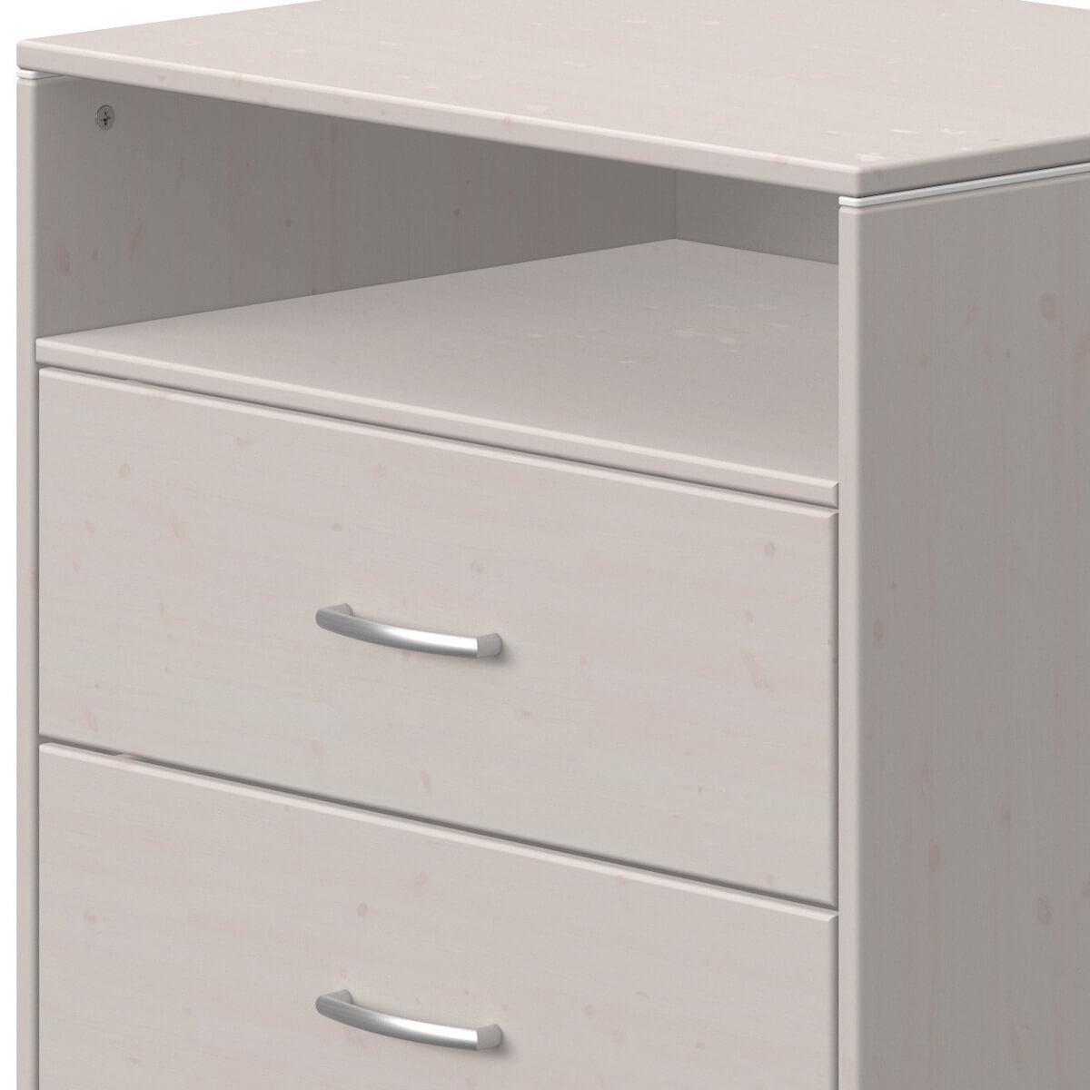 Cajonera 2 cajones-1 estante CLASSIC Flexa grey washed