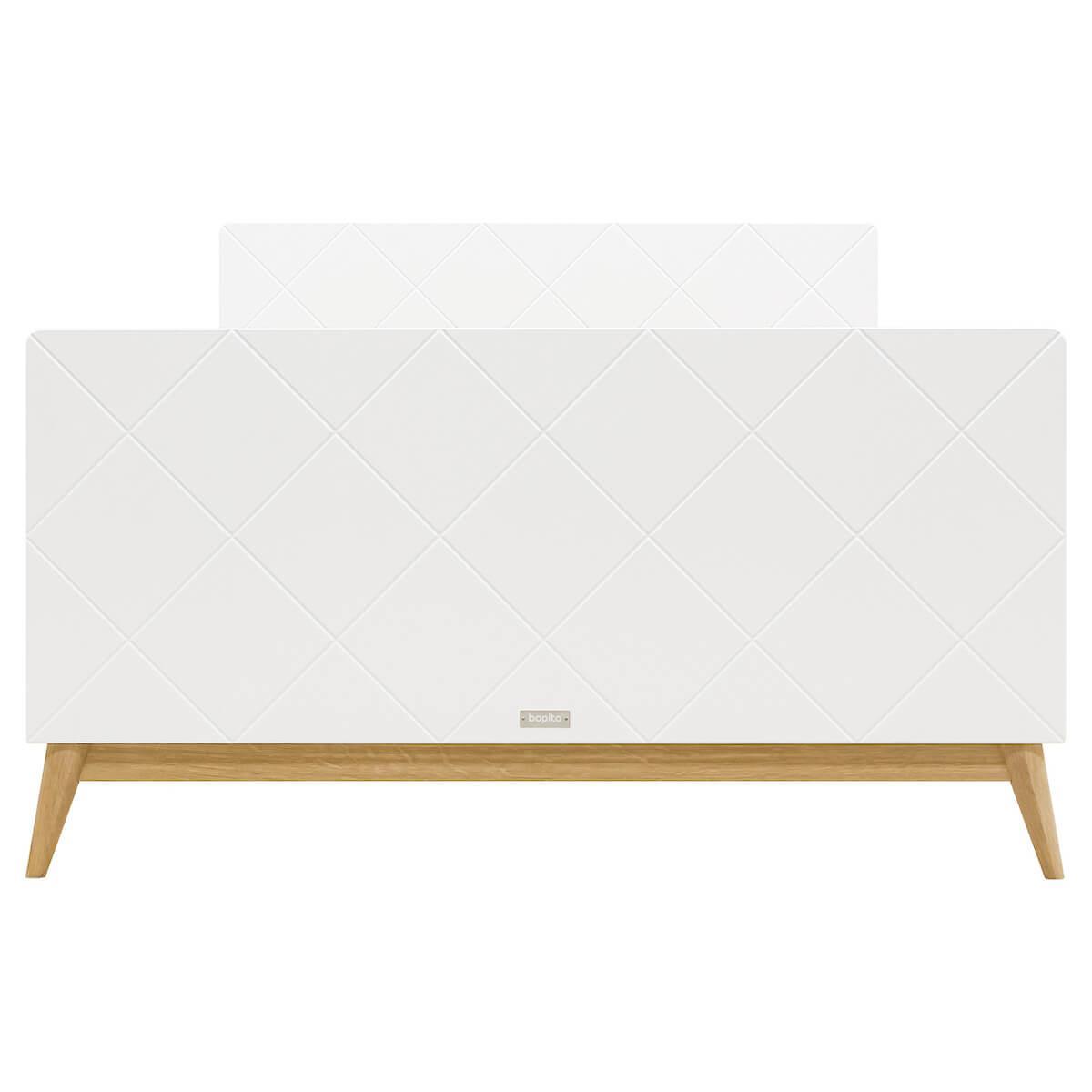 Cama 120x200cm PARIS Bopita blanco-roble