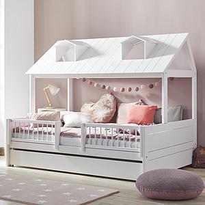Cama 120x200cm + somier de luxe BEACH HOUSE Lifetime blanco