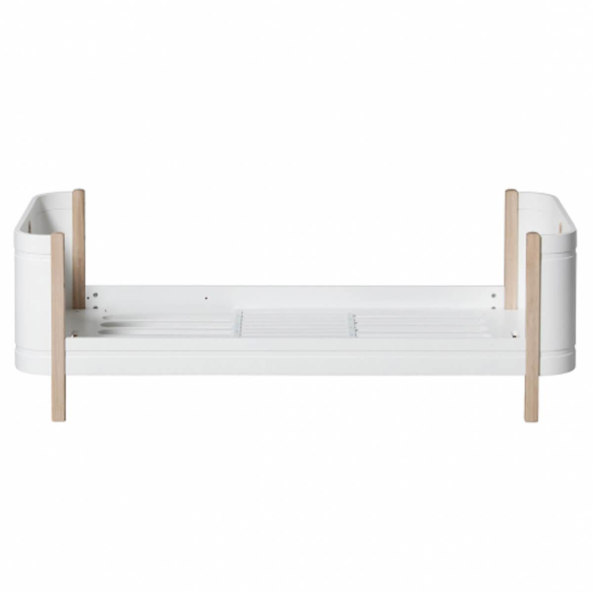 Cama 68x162cm WOOD MINI+ Oliver Furniture blanco-roble