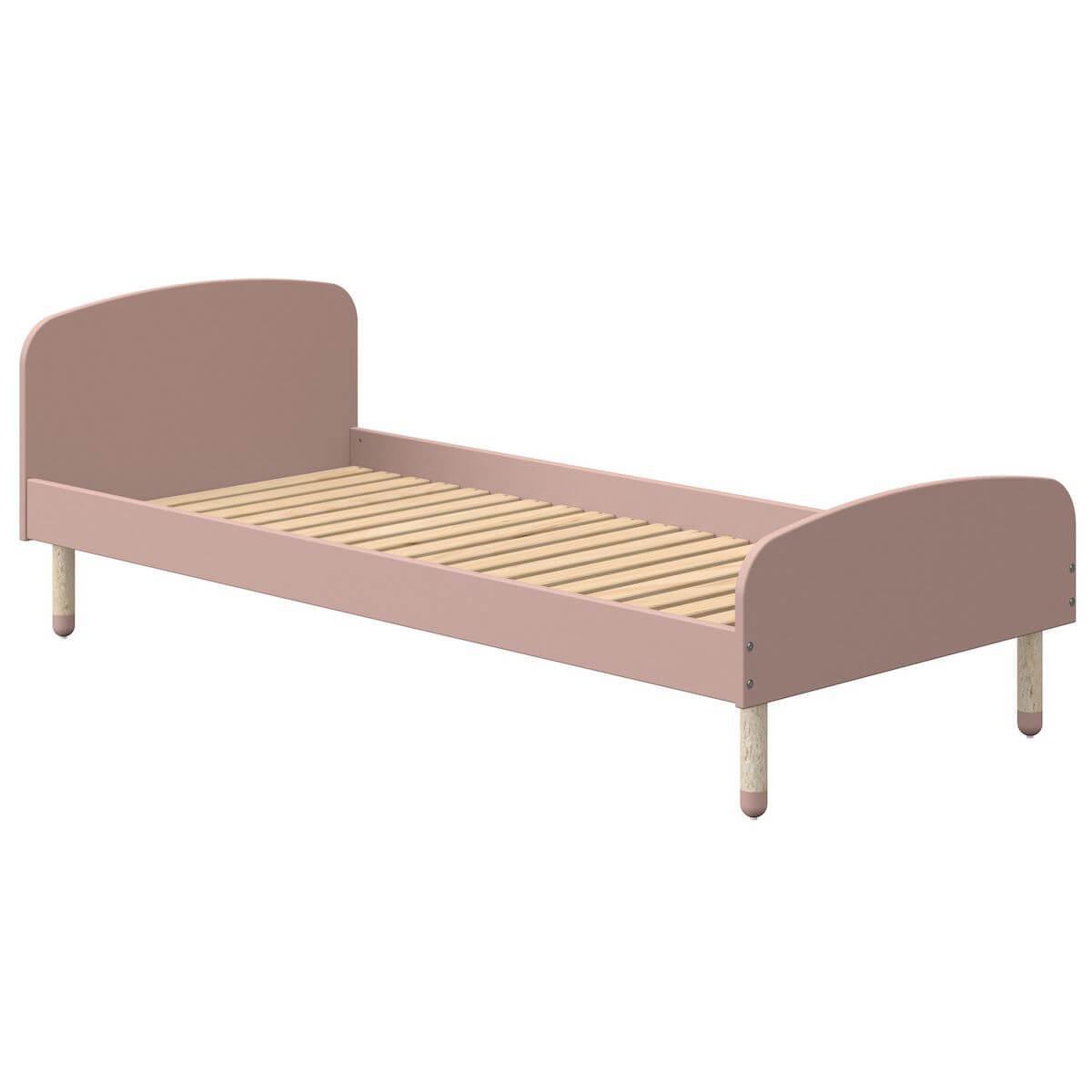 Cama 90x190cm DOTS Flexa rosa