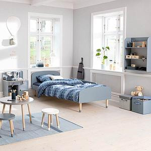 Cama 90x200cm DOTS Flexa azul