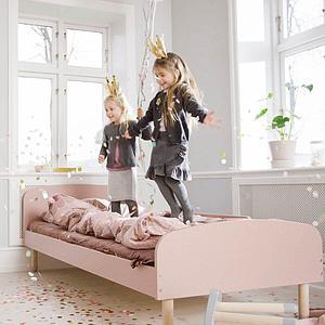 Cama 90x200cm DOTS Flexa rosa