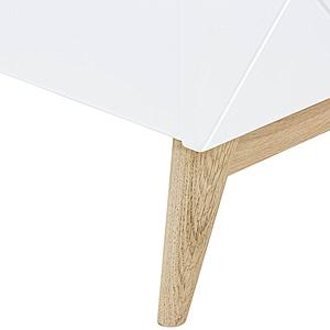 Cama 90x200cm PARIS Bopita blanco-roble