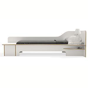 Cama 90x200cm versión derecha-cajón PLANE Mueller blanco