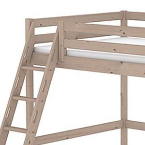 Cama alta 140x190 CLASSIC Flexa escalera inclinada terra