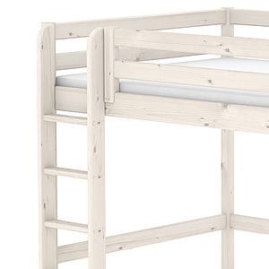 Cama alta 140x200 CLASSIC Flexa escalera recta blanco cal