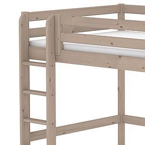 Cama alta 140x200 CLASSIC Flexa escalera recta terra