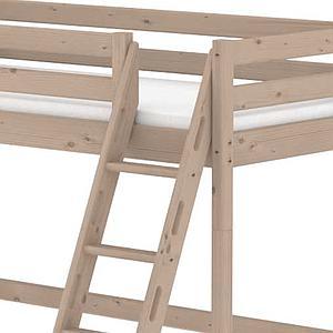 Cama alta 90x190 CLASSIC Flexa escalera inclinada terra