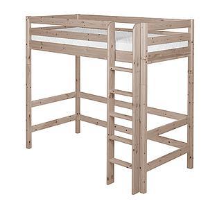 Cama alta 90x190 CLASSIC Flexa escalera recta terra