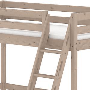 Cama alta 90x200 CLASSIC Flexa escalera inclinada terra