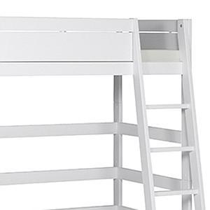 Cama alta 90x200cm escalera inclinada Lifetime blanco