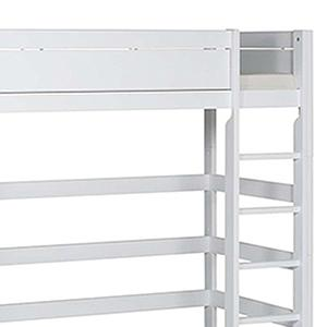 Cama alta 90x200cm escalera recta Lifetime blanco