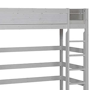 Cama alta 90x200cm escalera recta Lifetime gris