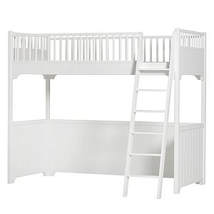 Cama alta 90x200cm SEASIDE CLASSIC Oliver Furniture blanco