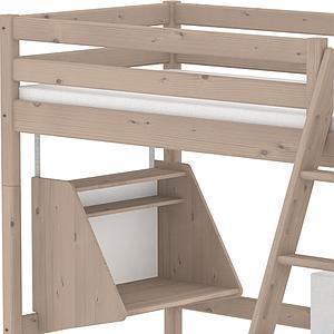 Cama alta Casa 90x190 CLASSIC Flexa escalera inclinada terra