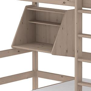 Cama alta Casa 90x200 CLASSIC Flexa escalera recta terra