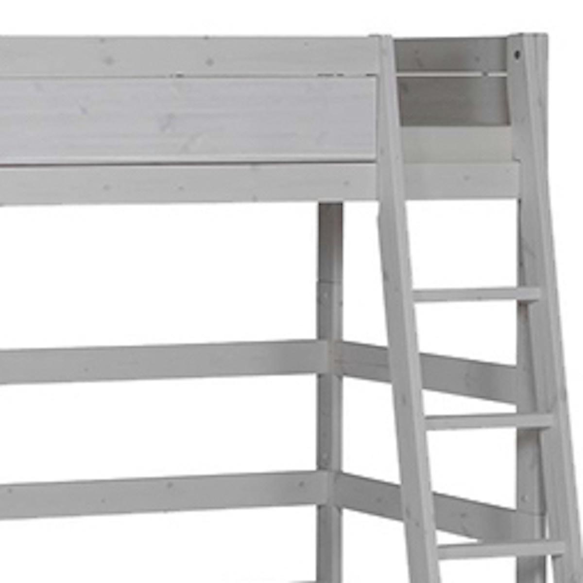 Cama alta-escalera inclinada 90x200cm Lifetime gris