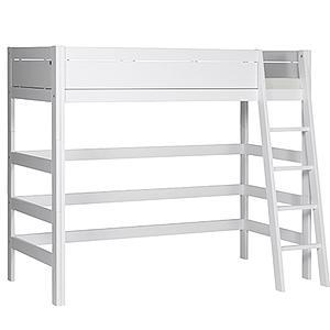 Cama alta-escalera inclinada Lifetime blanco