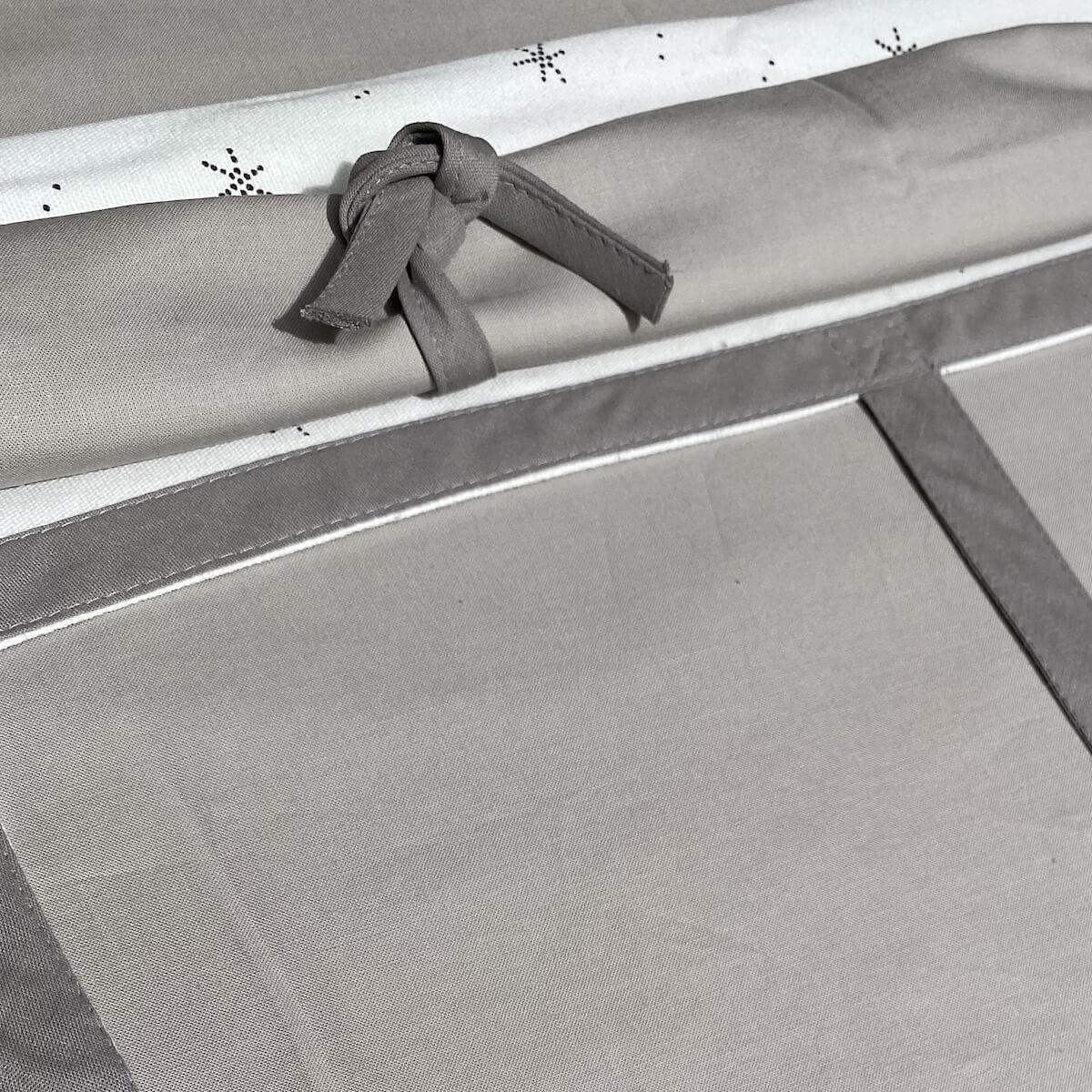 Cama alta-estructura techo KASVA con textiles Viena gris
