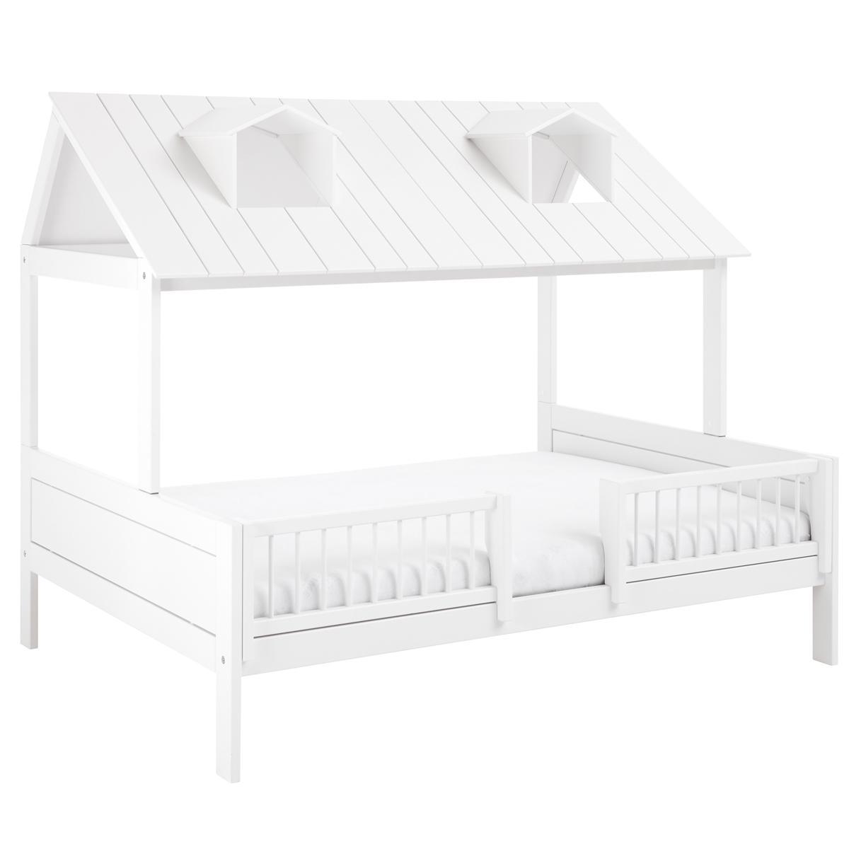 Cama cabaña 140x200cm + somier de luxe BEACH HOUSE Lifetime blanco