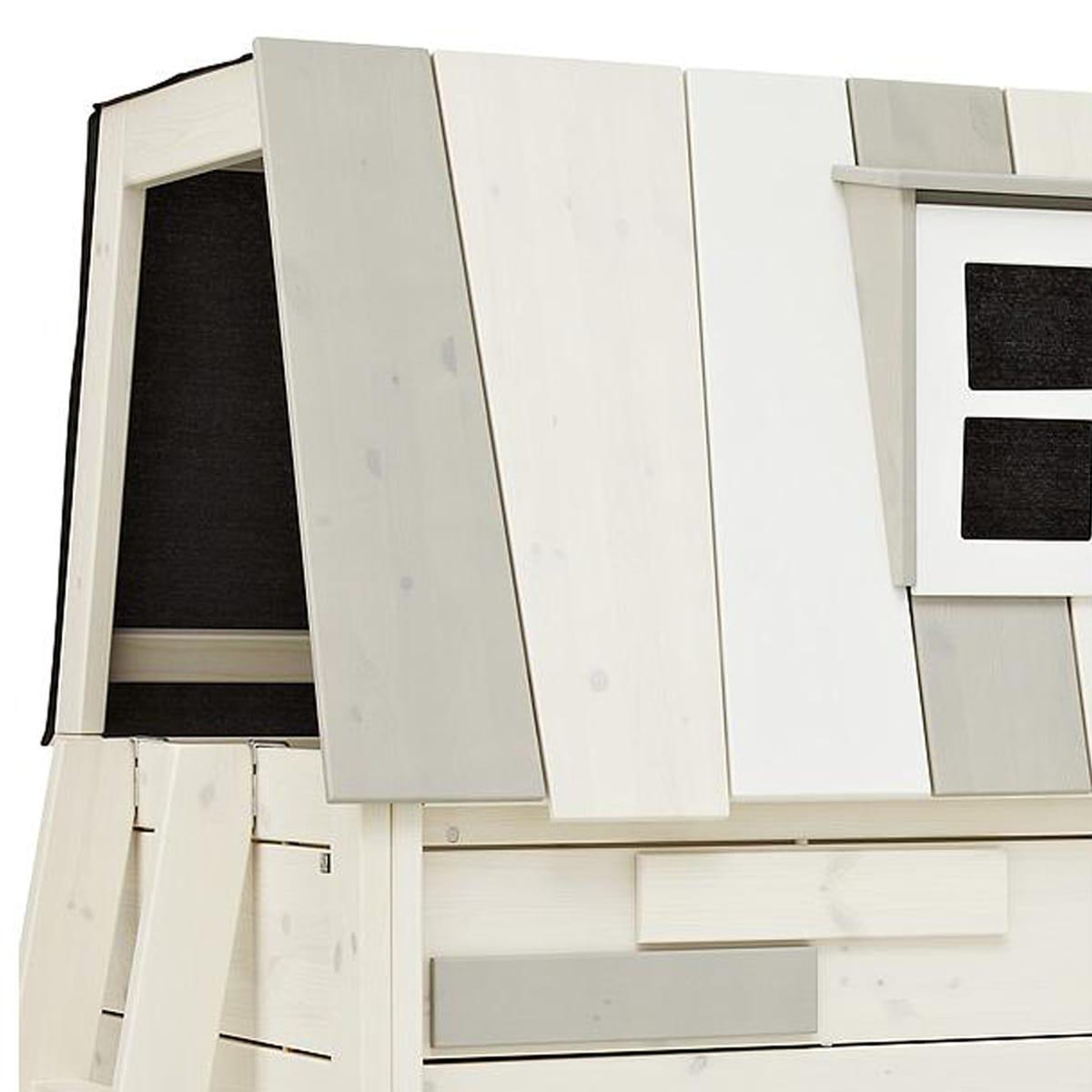 Cama cabaña semi-alta 90x200cm HANGOUT Lifetime blanqueado