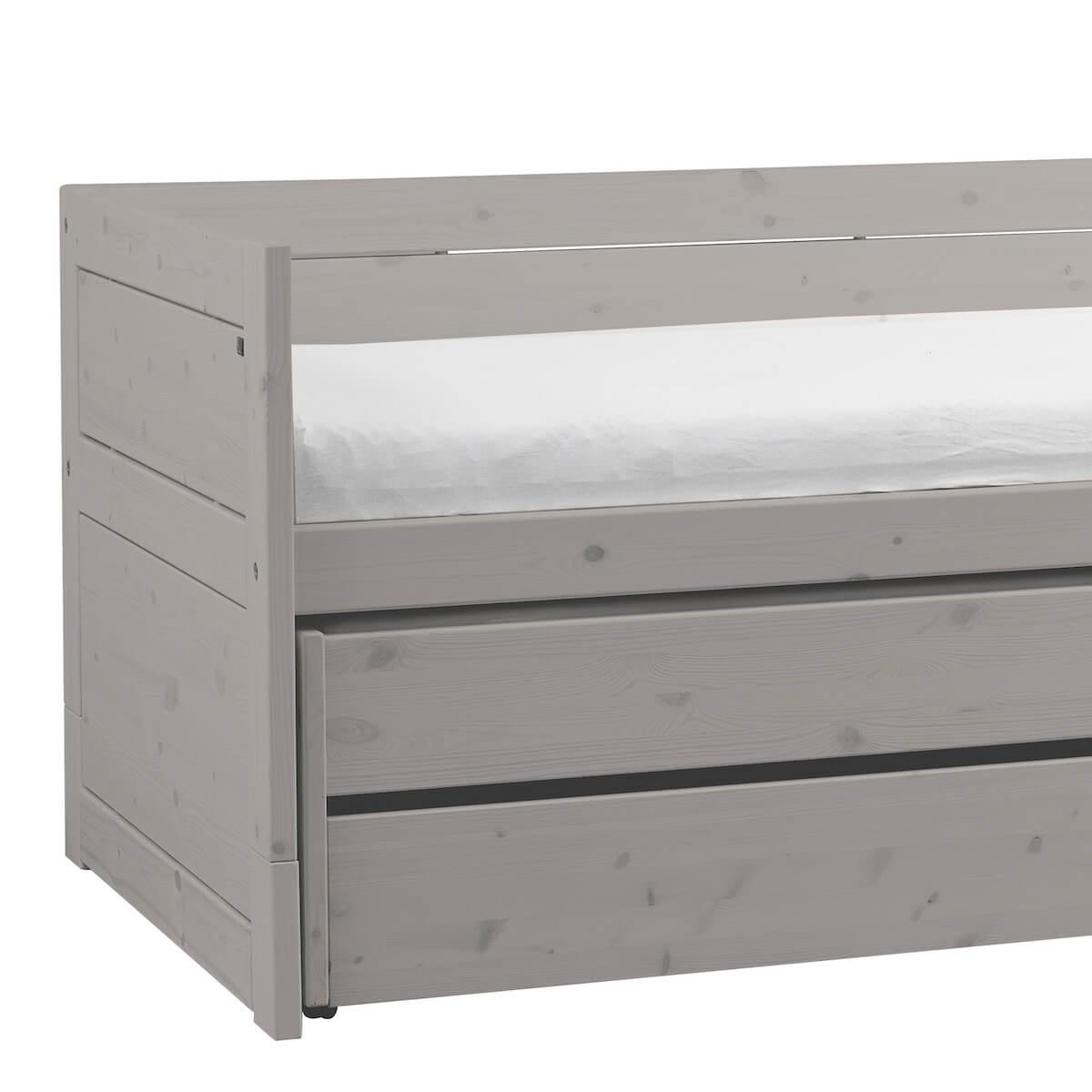Cama cabina 90x200cm nido-2 cajones Lifetime grey washed