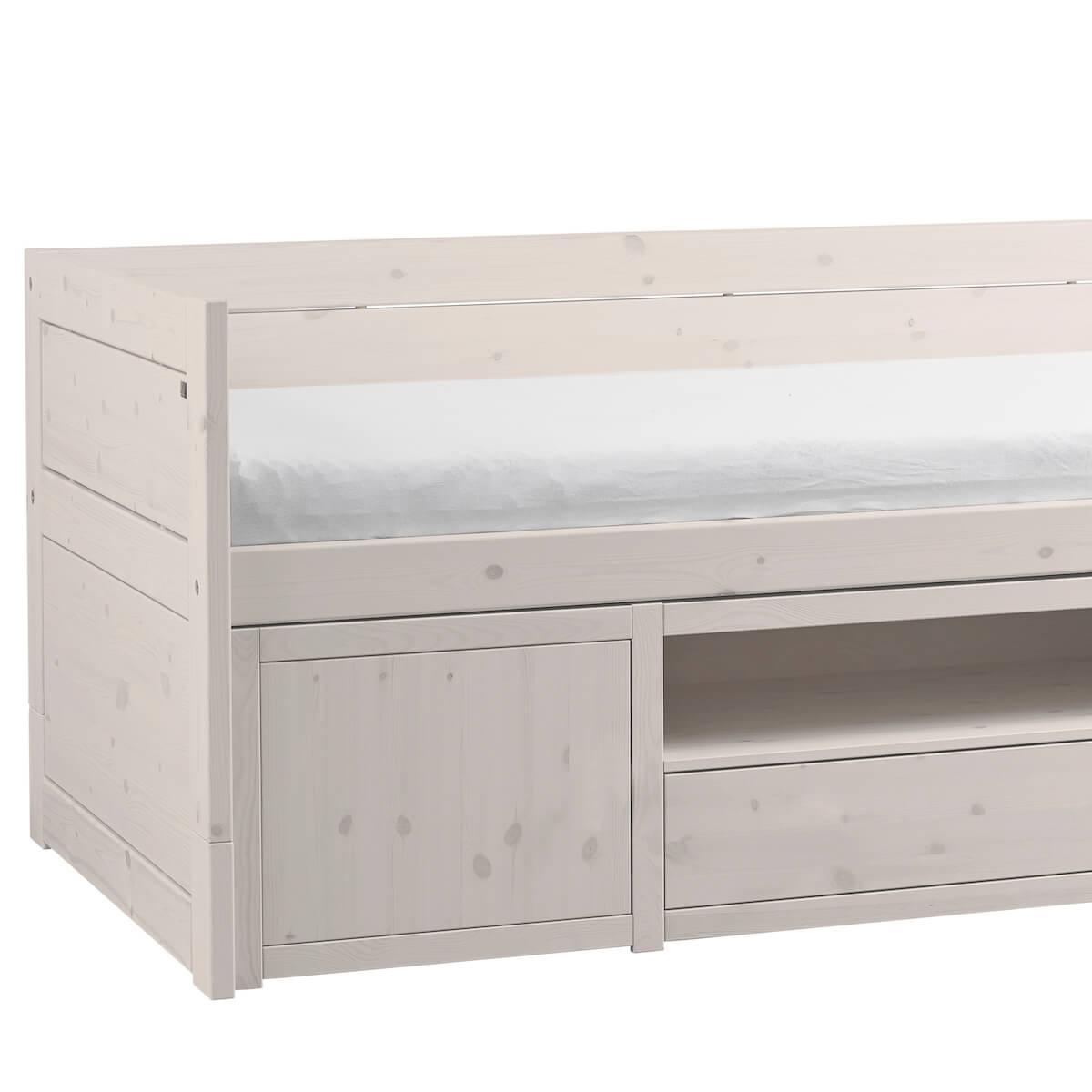 Cama cabina+pequeño mueble Lifetime blanqueado
