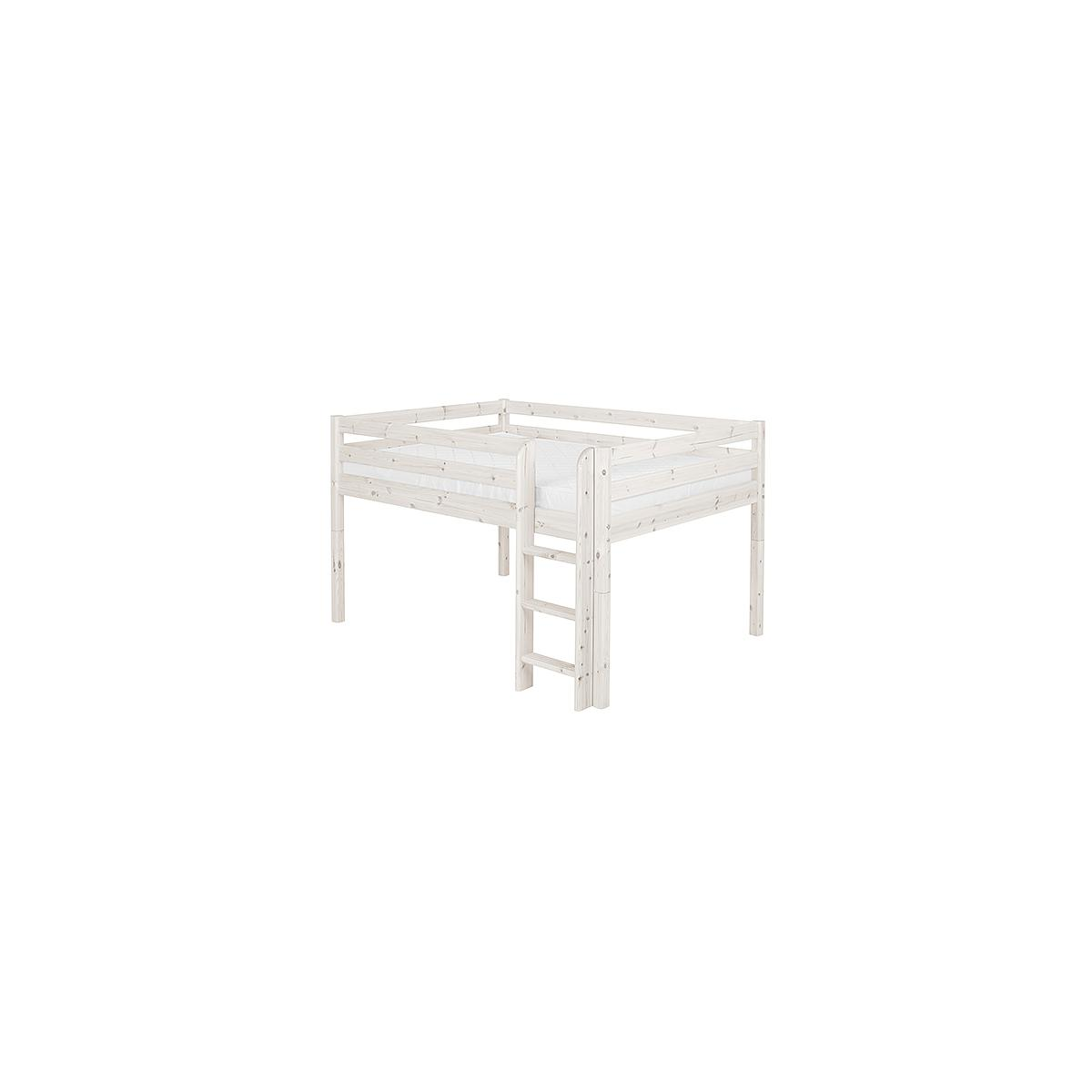 Cama doble media alta 140x190 CLASSIC Flexa blanco cal