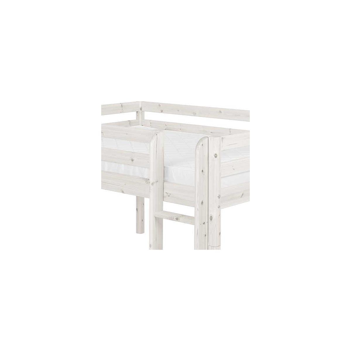 Cama doble media alta 140x190 CLASSIC Flexa blanco cal