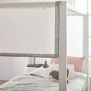Cama dosel 120x200cm somier DELUXE Lifetime gris
