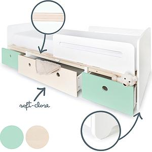 Cama evolutiva 90x200cm COLORFLEX Abitare Kids mint-white wash-mint