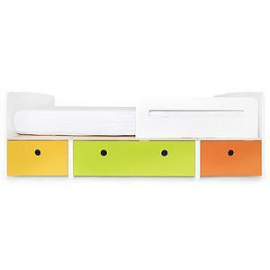 Cama evolutiva 90x200cm COLORFLEX Abitare Kids nectar yellow-lime-pure orange