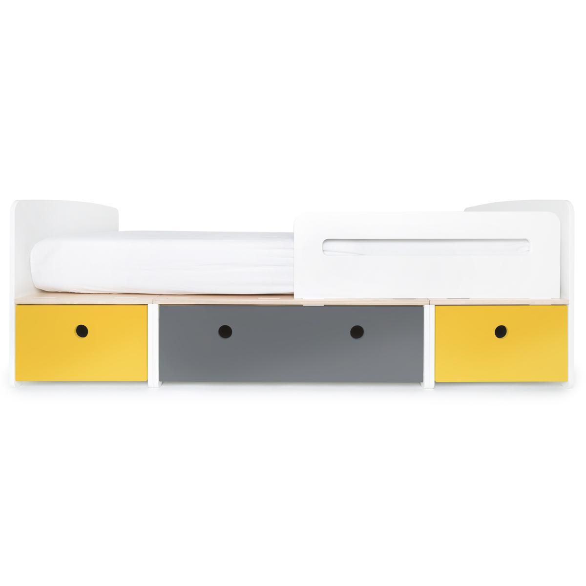 Cama evolutiva 90x200cm COLORFLEX Abitare Kids nectar yellow-space grey-nectar yellow