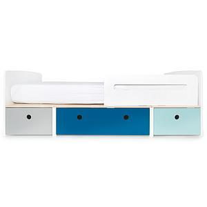 Cama evolutiva 90x200cm COLORFLEX Abitare Kids pearl grey-deep marine-sky blue