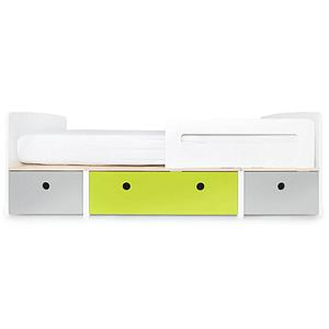 Cama evolutiva 90x200cm COLORFLEX Abitare Kids pearl grey-lime-pearl grey