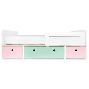 Cama evolutiva 90x200cm COLORFLEX Abitare Kids sweet pink-mint-sweet pink