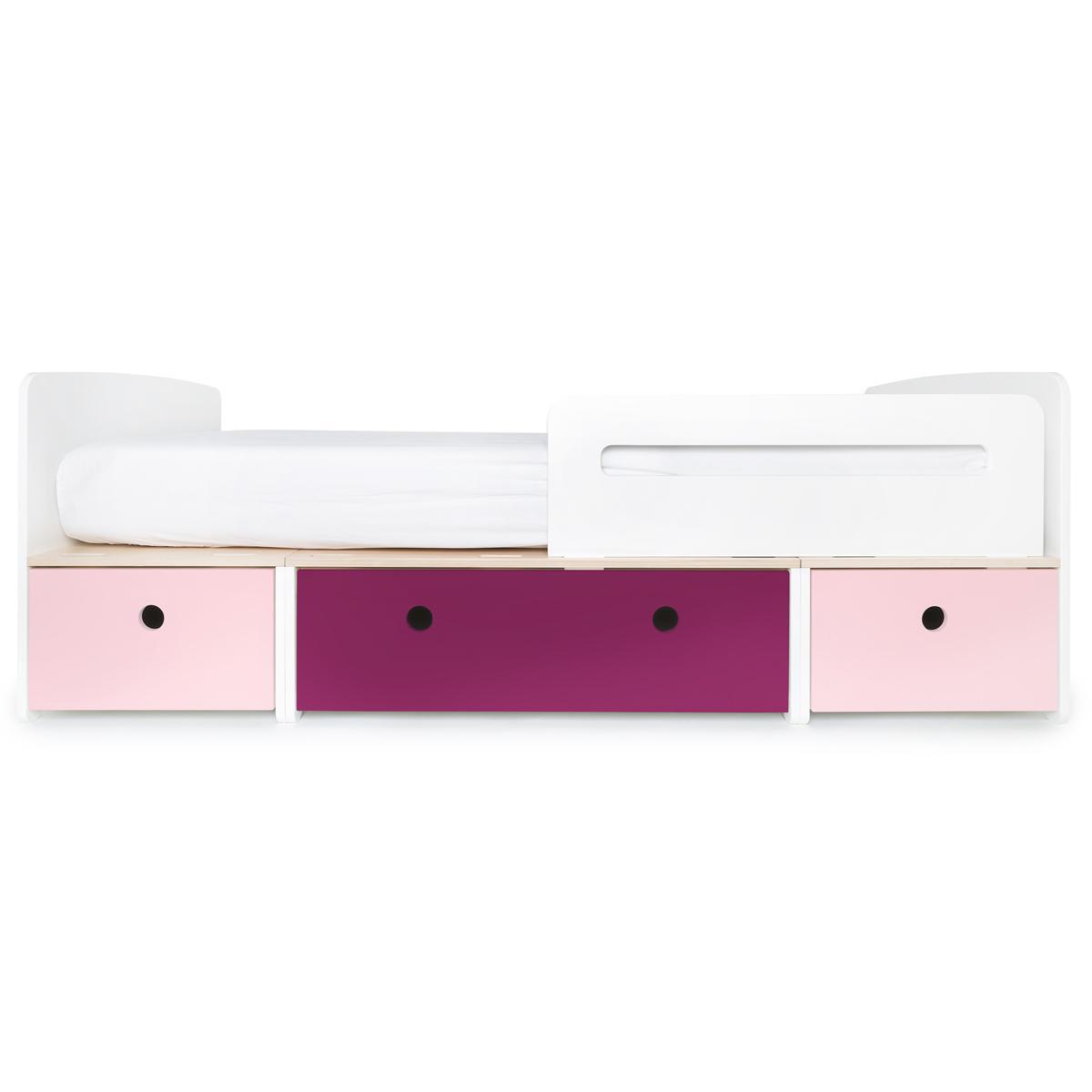 Cama evolutiva 90x200cm COLORFLEX Abitare Kids sweet pink-plum-sweet pink