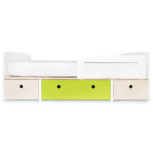Cama evolutiva 90x200cm COLORFLEX Abitare Kids white wash-lime-white wash