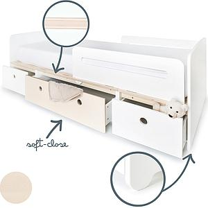 Cama evolutiva 90x200cm COLORFLEX Abitare Kids white-white wash-white