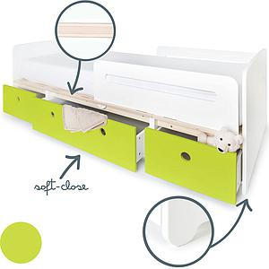 Cama evolutiva 90x200cm COLORFLEX lime
