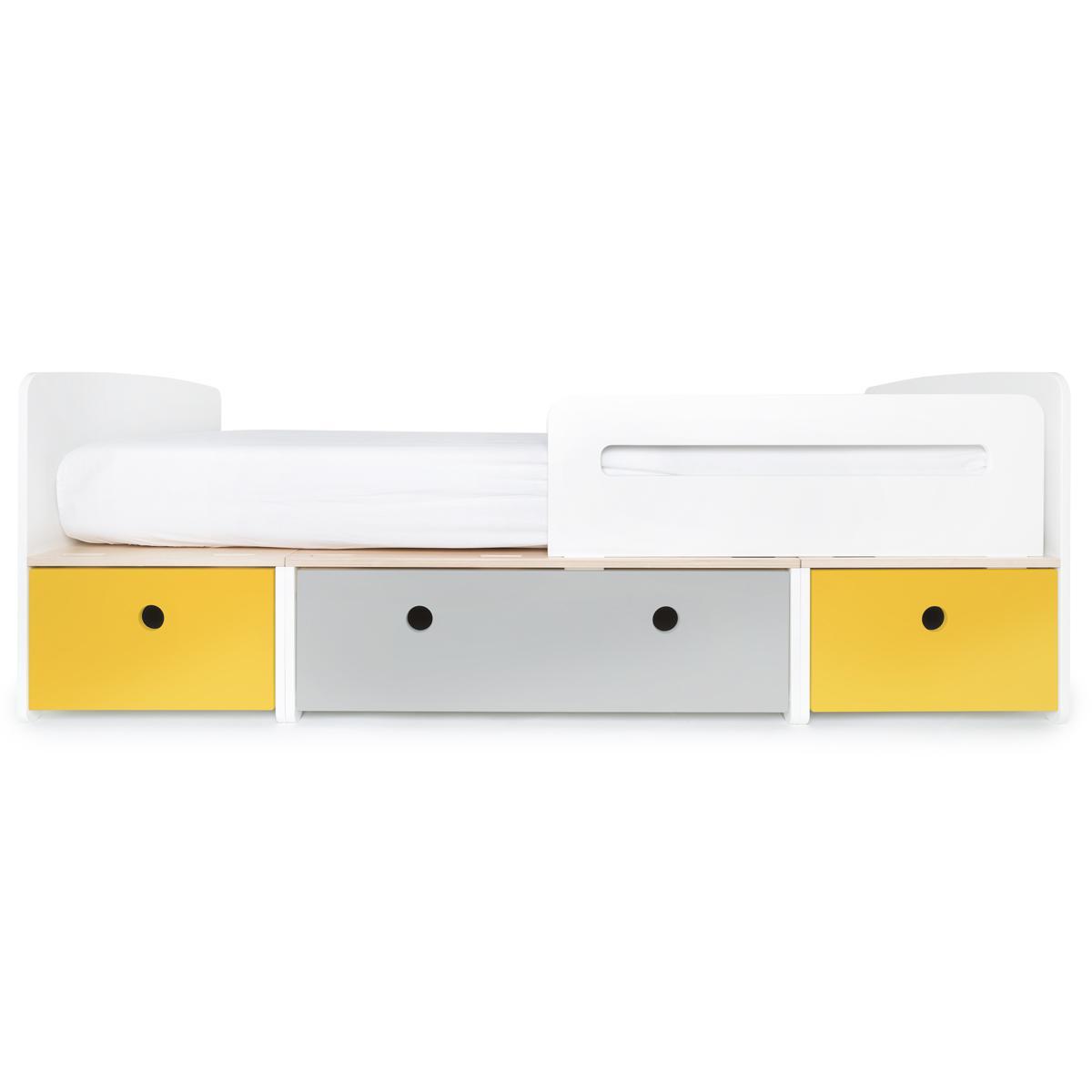 Cama evolutiva 90x200cm COLORFLEX nectar yellow-pearl grey-nectar yellow
