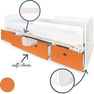 Cama evolutiva 90x200cm COLORFLEX pure orange