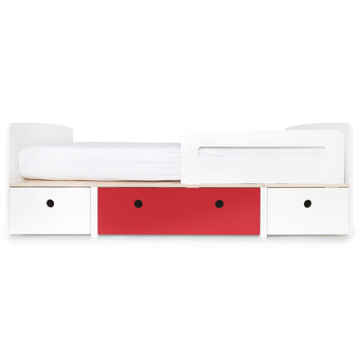 Cama evolutiva 90x200cm COLORFLEX white-true red-white